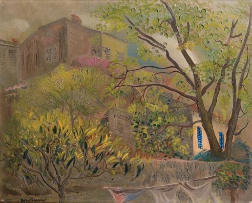 Григорьев Б. Д. Дом с розовой крышей