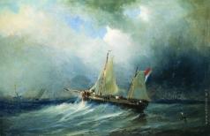 Боголюбов А. П. Парусник в море
