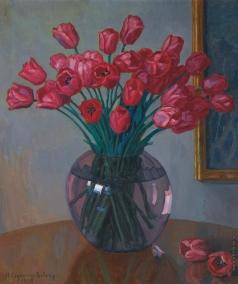 Богданов-Бельский Н. П. Натюрморт с тюльпанами