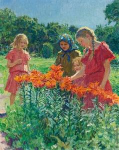 Богданов-Бельский Н. П. Собирают цветы