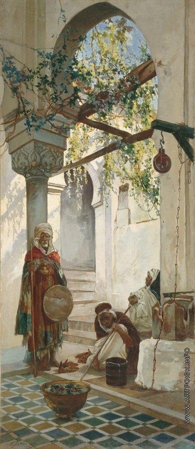 Якоби В. И. У входа в мечеть