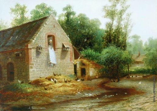 Боголюбов А. П. Пейзаж в Нормандии