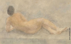 Вейсберг В. Г. Лежащая обнаженная со спины