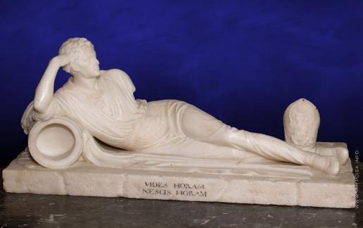 Гальберг С. И. Граф Александр Иванович Остерман-Толстой в позе античного героя после ранения в битве при Кульме