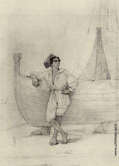 Айвазовский И. К. Итальянец у парусной лодки
