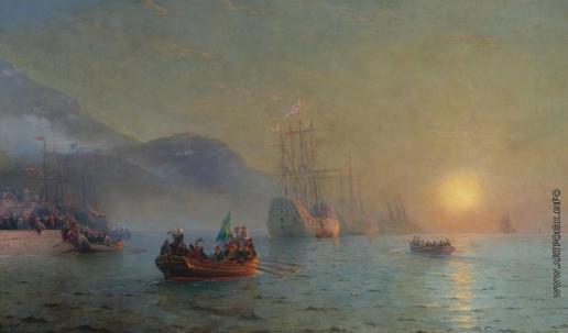 Айвазовский И. К. Колумб, проплывающий через мыс Палос