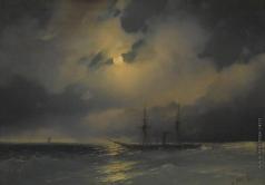 Айвазовский И. К. Корабли лунной ночью