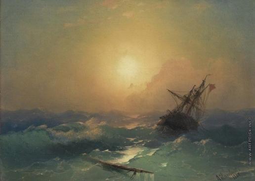 Айвазовский И. К. Корабль, терпящий бедствие