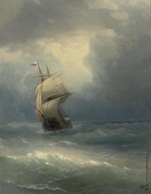 Айвазовский И. К. Корабль в море