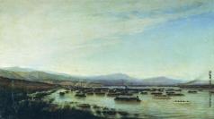 Боголюбов А. П. Переправа русских войск через Дунай у Мачина. 1877 год