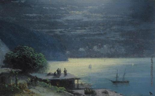 Айвазовский И. К. Крымское побережье в лунном свете