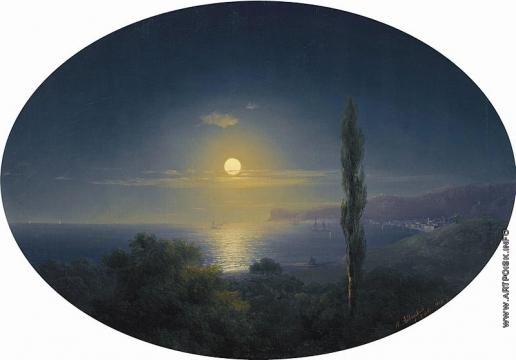 Айвазовский И. К. Крымское побережье лунной ночью