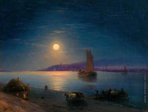 Айвазовский И. К. Лунная ночь на Днепре