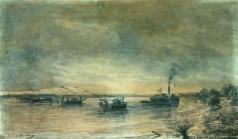 Боголюбов А. П. Постановка сфероконических мин на Дунае 1878 год