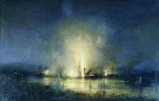"""Боголюбов А. П. Потопление турецкого монитора """"Сейфи"""" на Дунае 14 мая 1877 года. 1877–"""