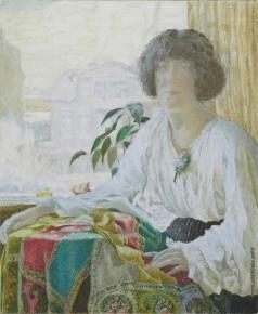 Чехонин С. В. Портрет жены