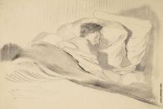 Чехонин С. В. Спящая жена художника