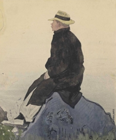 Бенуа А. Н. Портрет Константина Сомова в Бретани