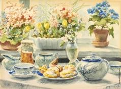 Романова О. А. Чайный сервиз с цветами