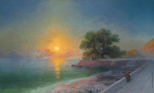 Айвазовский И. К. Променад на закате
