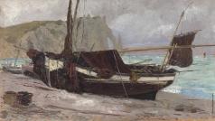 Поленов В. Д. Рычацкая лодка в Этрета. Нормандия