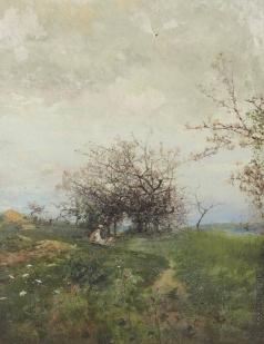 Похитонов И. П. Яблони в цвету