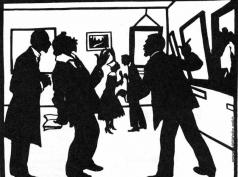 """Кругликова Е. С. На выставке """"Мир искусства"""" в Петрограде в 1916 г."""