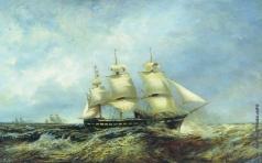 Боголюбов А. П. Русская эскадра в пути. 1863 год