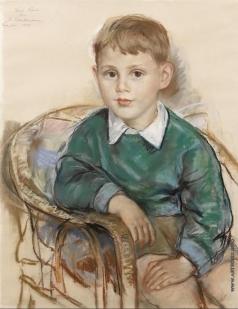Серебрякова З. Е. Портрет Дэвида Хантера, внука двоюродного брата художницы