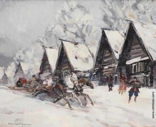 Коровин К. А. Зимний пейзаж