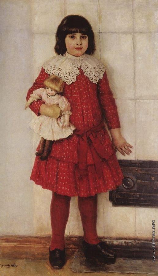 Суриков В. И. Портрет О.В.Суриковой (в замужестве Кончаловской), дочери художника, в детстве