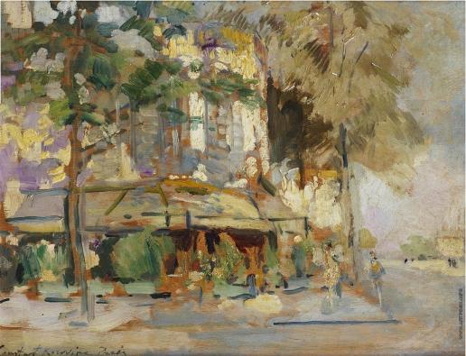 Коровин К. А. Кафе «Клозери де Лила». Париж