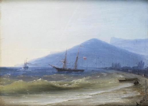 Айвазовский И. К. Ялта. Корабли