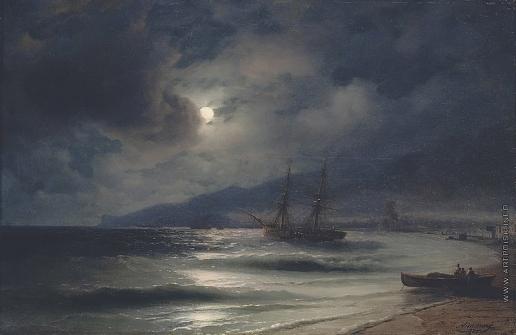 Айвазовский И. К. На побережье ночью