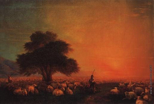 Айвазовский И. К. Овцы на пастбище