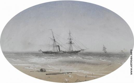 Айвазовский И. К. Отплытие корабля