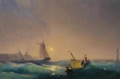 Айвазовский И. К. Отплытие от голландского побережья