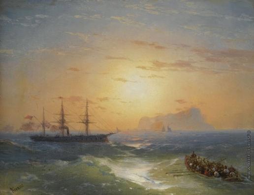 Айвазовский И. К. Отплытие с острова Искья