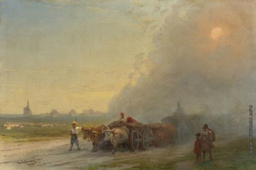 Айвазовский И. К. Повозки в украинской степи