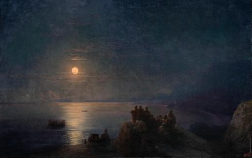 Айвазовский И. К. Классические поэты в лунную ночь в Древней Греции