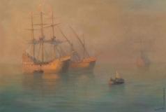 Айвазовский И. К. Прибытие флотилии Колумба
