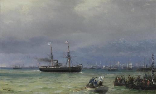Айвазовский И. К. Приход корабля