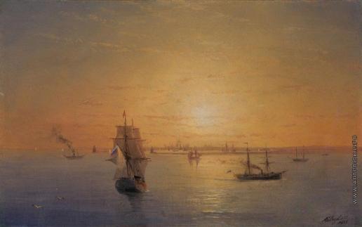 Айвазовский И. К. Русский флот на закате