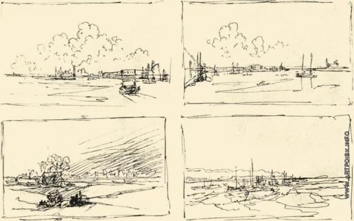 Айвазовский И. К. Четыре композиционных наброска приморской местности