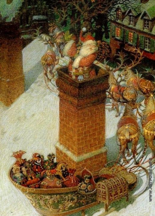 Спирин Г. К. Иллюстрация к книге Клемента Кларка Мура «Рождественская ночь»