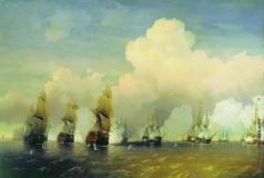 Боголюбов А. П. Сражение русского флота со шведским в 1790 году вблизи Кронштадта при Красной Горке