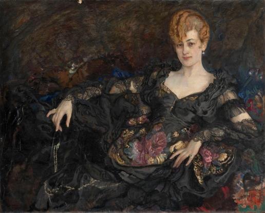 Бродский И. И. Портрет дамы