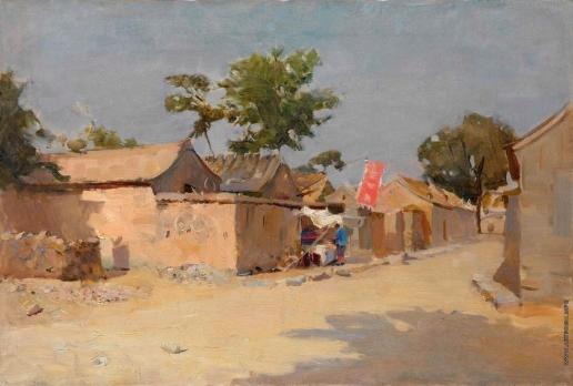 Максимов К. М. Улица в Китае