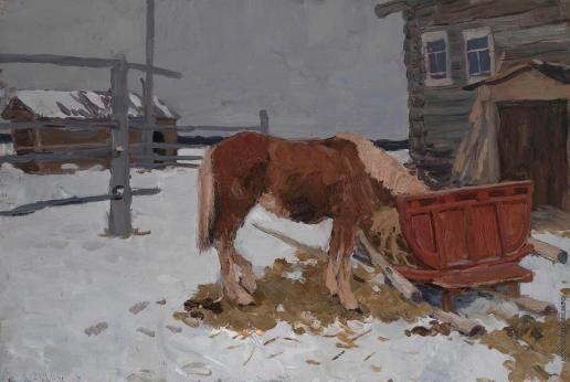 Стожаров В. Ф. Лошадь и красные сани