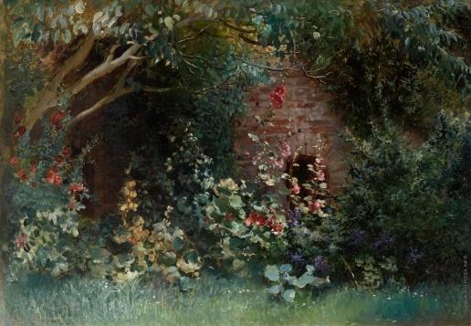 Маковский К. Е. Сад в цвету
